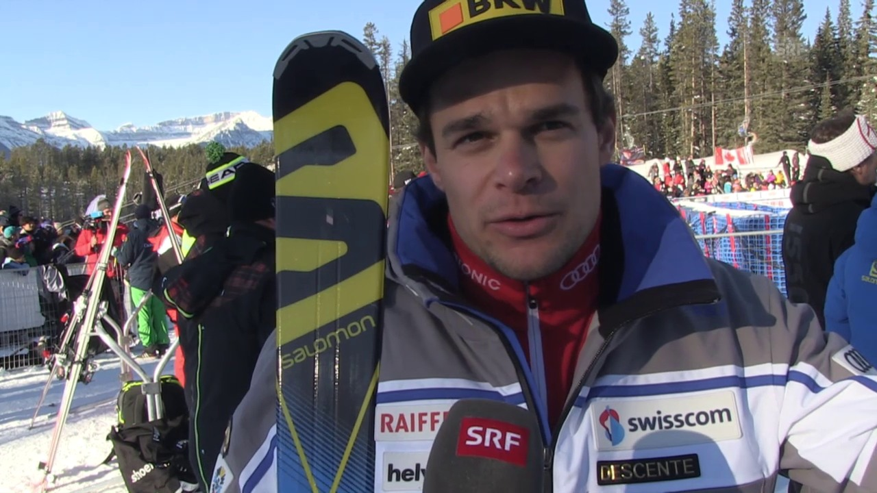 Ski: Abfahrt Lake Louise, Interview Küng