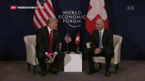 Video «Trump lobt Schweiz bei Treffen mit Bundesräten» abspielen