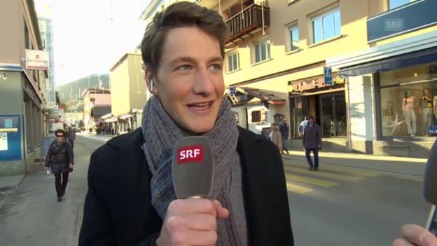 Video «Eishockey: Spengler Cup, Gespräch mit Stefan Küng, Teil I» abspielen