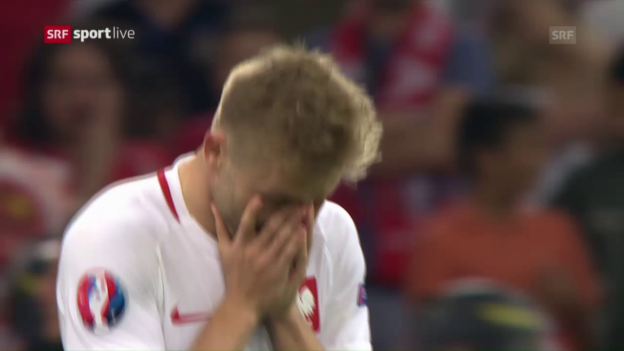Das Penaltyschiessen bei Polen-Portugal