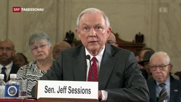 Video «Anhörung von Justizminister Sessions» abspielen