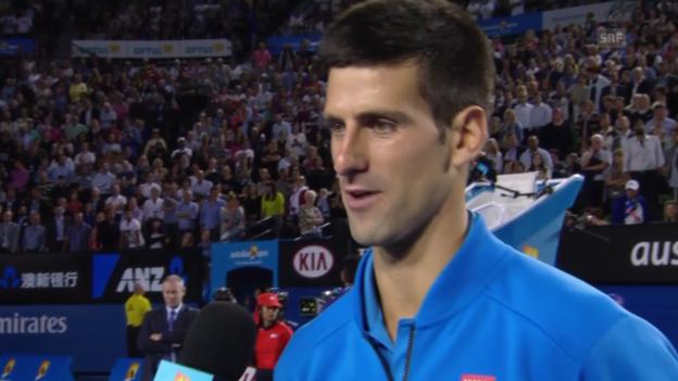 Video «Tennis: Australian Open, Platz-Interview mit Djokovic» abspielen