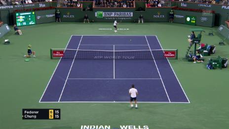 Link öffnet eine Lightbox. Video Die Live-Highlights bei Federer - Chung abspielen
