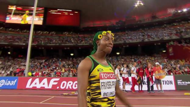 Video «100 m: Final der Frauen» abspielen