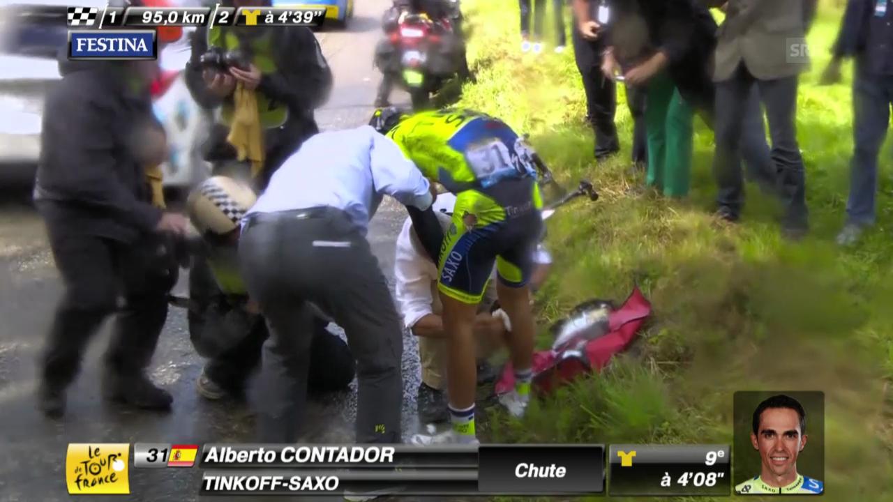 Die Aufgabe von Alberto Contador