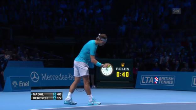 Video «Tennis: Nadal - Berdych (Satzbälle und Matchball)» abspielen