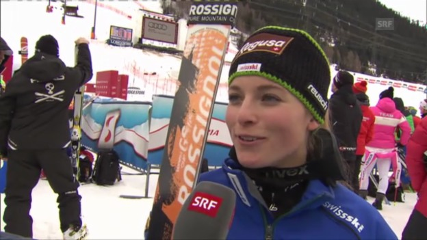 Video «Ski: 1. Training in St. Anton, Interview mit Lara Gut» abspielen