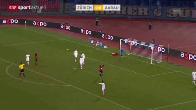 Video «Fussball: Super League, FCZ - Aarau» abspielen
