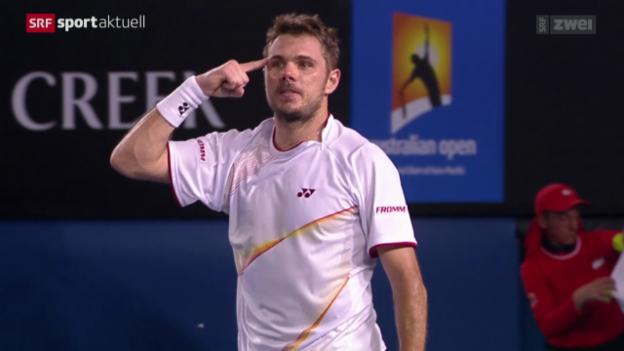 Video «Tennis: Australian Open, Halbfinal, Wawrinka - Berdych» abspielen