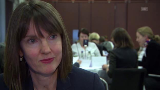 Video «Julie Fitzgerald über die Frauenquote» abspielen