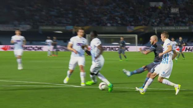 Video «Celta Vigo schlägt Genk nur knapp» abspielen