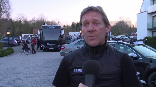 Video «Rad: Sturz Cancellara, Interview mit Trek-Sportdirektor Demol» abspielen
