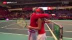 Video «Tennis: Fed Cup Frankreich - Schweiz» abspielen