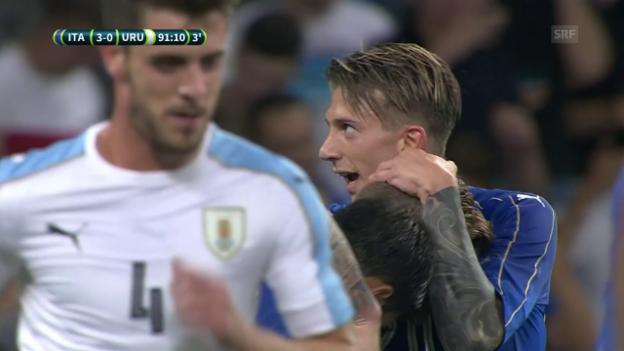 Video «Die Tore bei Italien - Uruguay» abspielen