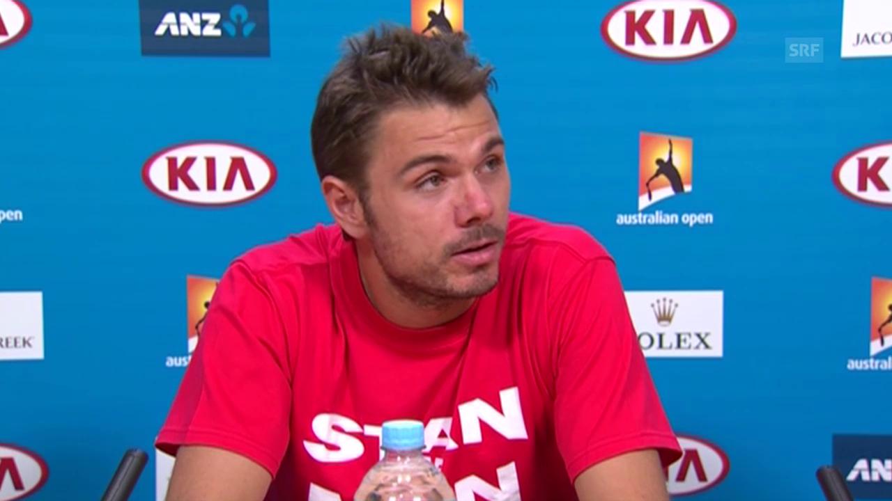 Tennis: Australian Open, Medienkonferenz mit Stan Wawrinka