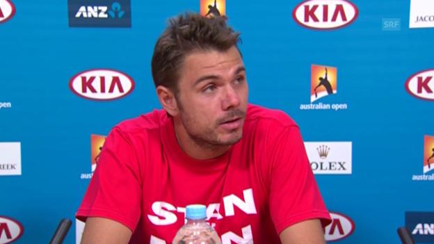 Video «Tennis: Australian Open, Medienkonferenz mit Stan Wawrinka» abspielen