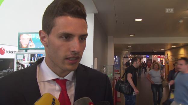 Video «Fussball: EM-Quali, Litauen - Schweiz, Interview Fabian Schär» abspielen