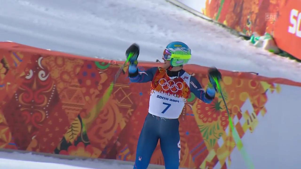 Ski: Riesenslalom Männer Sotschi, 2. Lauf von Ted Ligety (sotschi direkt, 19.2.14)