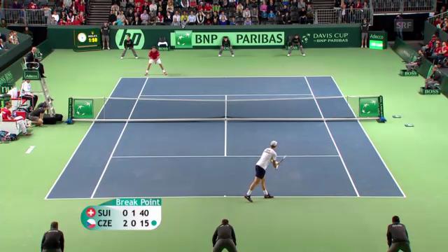 Wawrinka - Berdych Davis Cup 2013