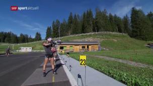 Video «Die Saisonvorbereitung der Biathletinnen» abspielen