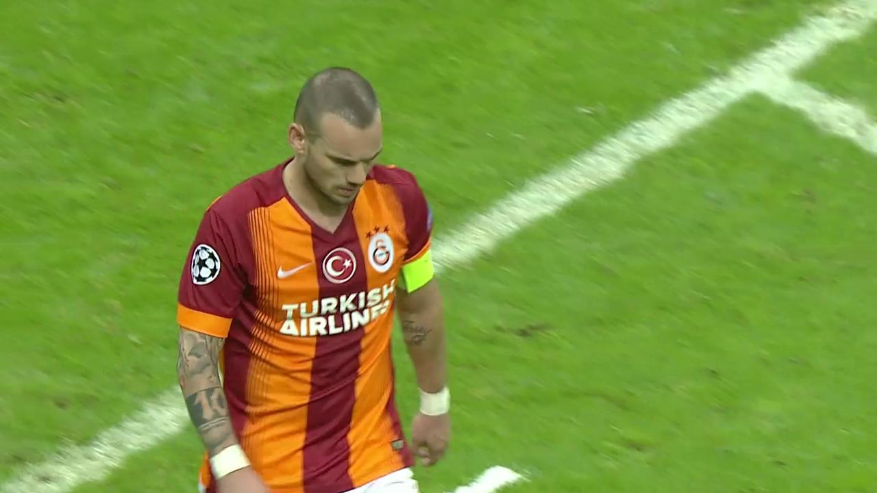 Sneijder-Freistosstor für Galatasaray gegen Arsenal