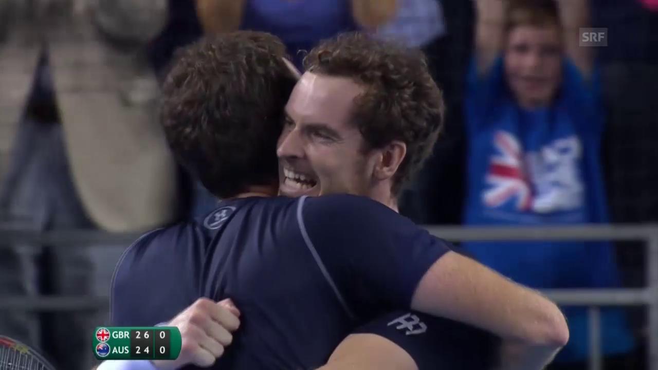 Tennis: Davis Cup, Grossbritannien - Australien, Doppel