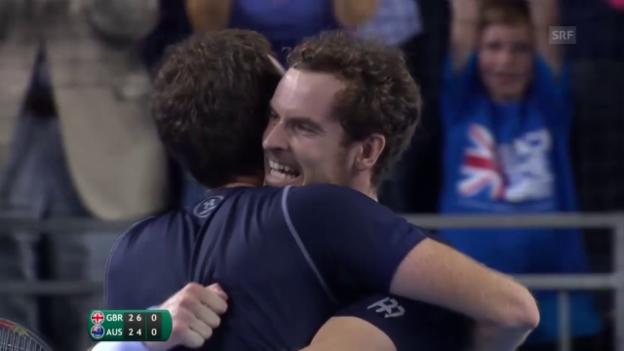 Video «Tennis: Davis Cup, Grossbritannien - Australien, Doppel» abspielen
