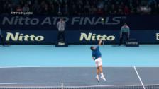 Link öffnet eine Lightbox. Video Federer brilliert – Thiem patzt abspielen