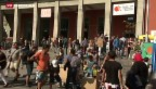 Video «Tausende Flüchtlinge in Deutschland angekommen» abspielen