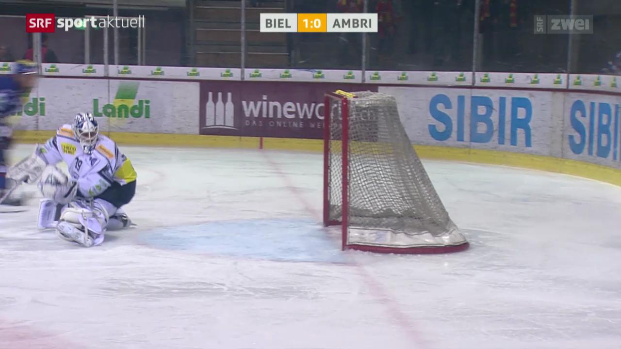 Eishockey: Biel - Ambri