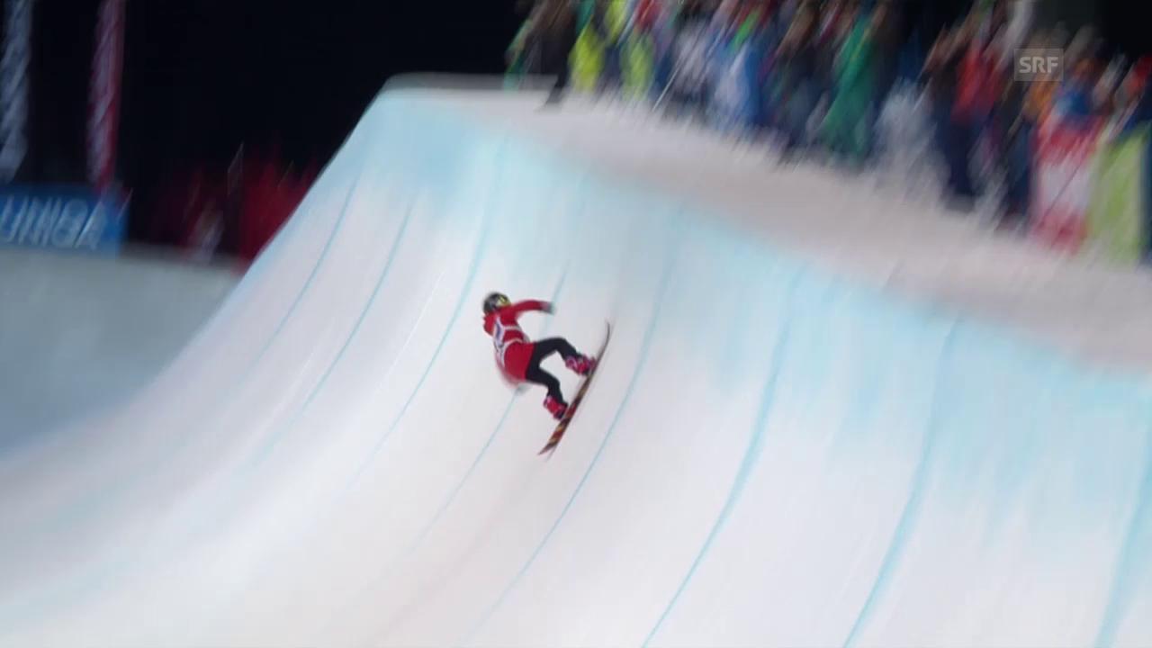 Snowboard: Freestyle-WM in Kreischberg, Final Halfpipe, Gold-Run Cai