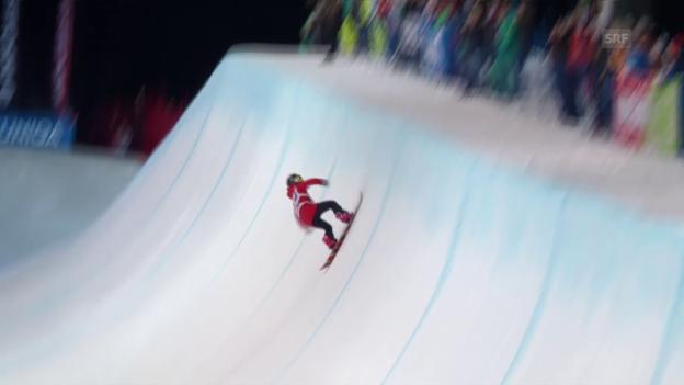 Video «Snowboard: Freestyle-WM in Kreischberg, Final Halfpipe, Gold-Run Cai» abspielen