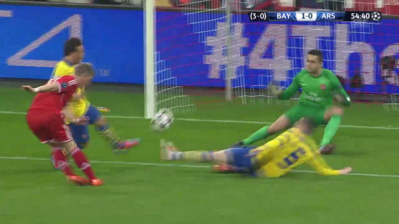 Fussball: CL-Achtelfinals, Rückspiel Bayern München - Arsenal