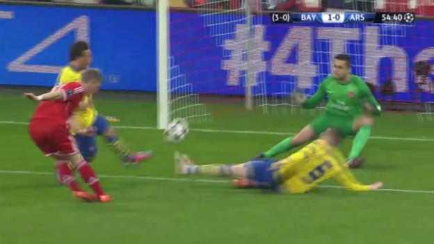 Video «Fussball: CL-Achtelfinals, Rückspiel Bayern München - Arsenal» abspielen