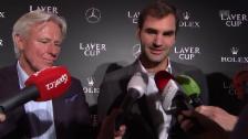Link öffnet eine Lightbox. Video Federer: «Sprachen vor langer Zeit über das Doppel» abspielen