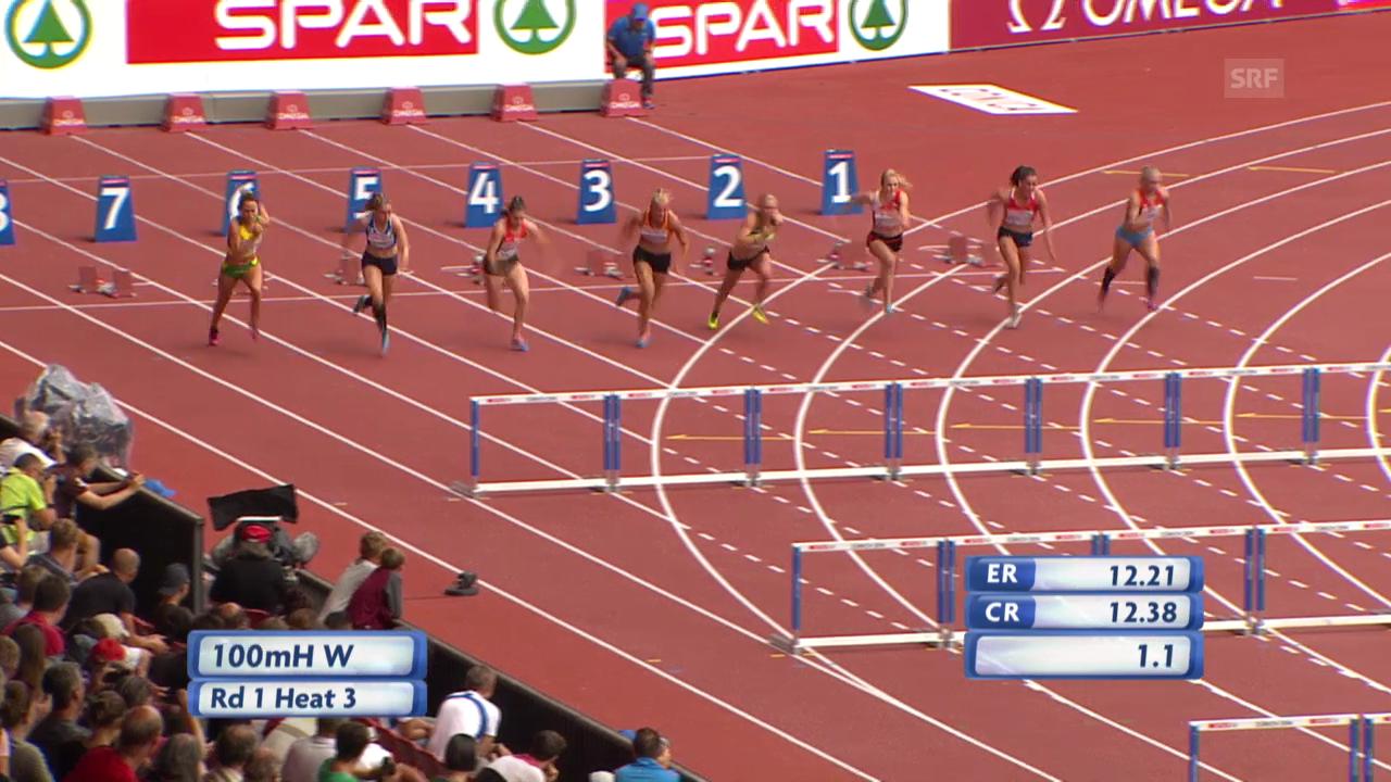 Leichtathletik: 100 m Hürden Lisa Urech