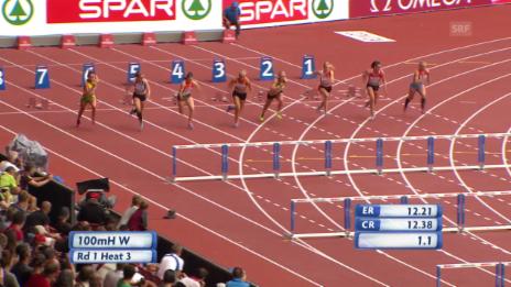 Video «Leichtathletik: 100 m Hürden Lisa Urech» abspielen
