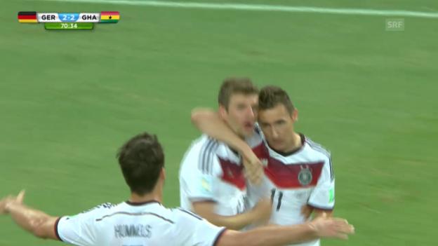 Video «FIFA WM 2014: Deutschland - Ghana: Die Live-Highlights» abspielen