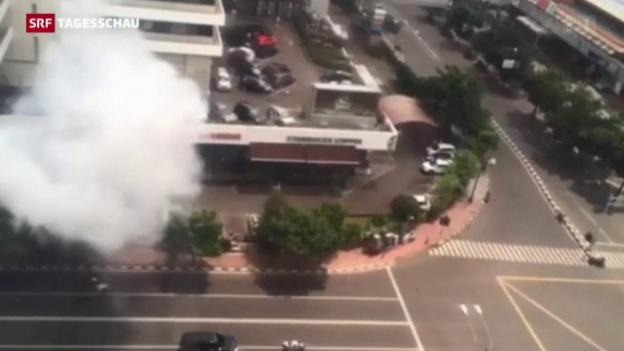 Video «Terror in Indonesiens Hauptstadt Jakarta» abspielen