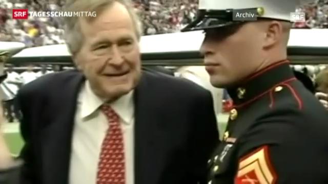 Bush auf Intensivstation (Tagesschau Mittag vom 27. Dezember 2012)