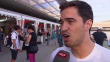 Video «Max Heinzer: Nervös trotz eigenem Kissen» abspielen