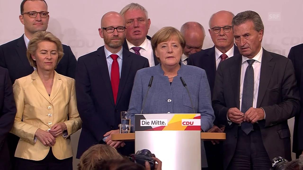 Merkel zeigt sich kämpferisch