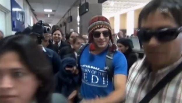 Video «Von der Fansschar bestürmt: Zac Efron in Peru» abspielen
