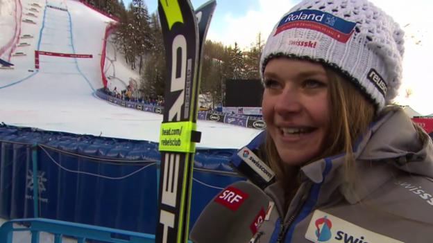 Video «Interview: Corinne Suter zufrieden mit ihrem Comeback» abspielen