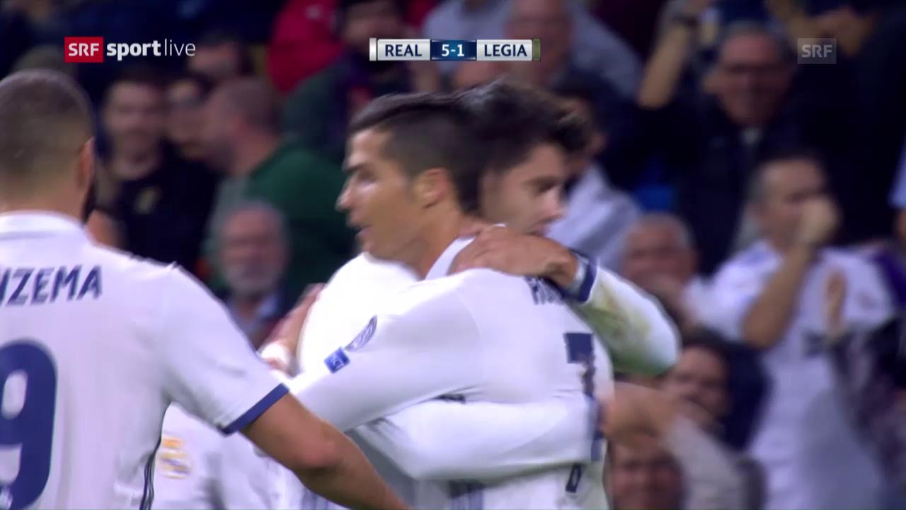 Real Madrid lässt Legia Warschau keine Chance