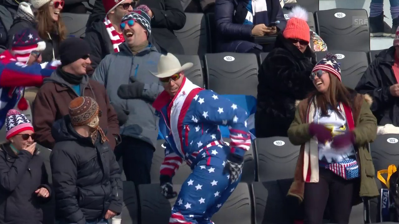 US-Fan legt einen Dance hin