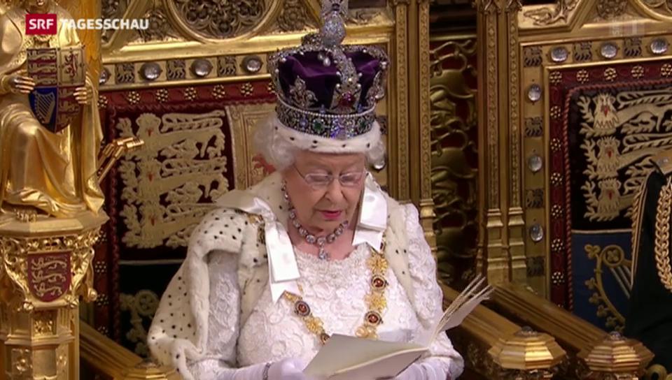 Queen stellt Programm der neuen britischen Regierung vor