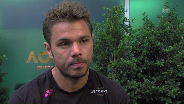 Video «Das sagt Wawrinka zum Halbfinal gegen Federer» abspielen