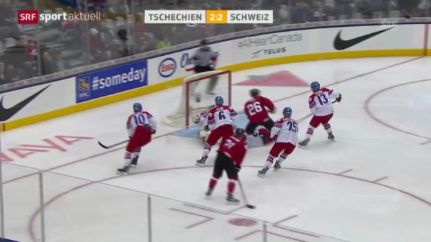 Video «Eishockey: U20-WM, Schweiz - Tschechien» abspielen