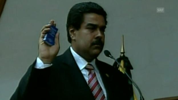 Video «Nicolás Maduro legt den Amtseid ab. (Originalton, unkommentiert)» abspielen